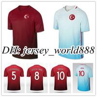 Top qualidade Thai 2016 2017 Turkish Home Soccer Jersey 16 17 Turquia Cenk  TOSUN ARDA homens 252e38a9db1e0