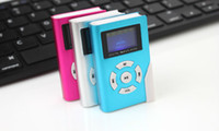 Wholesale Portable MP3 LCD Screen Metal Mini MP3 Player With Micro TF SD Card Slot sport mp3 Music players walkman