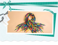 Wholesale The new fashion personality Color rainbow shoelaces