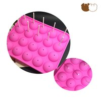 Wholesale IBao Classic Kitchen Baking Mould Bakeware Mold Lollipop Cake Chocolate Dining Tool Home DIY Silicone Pink