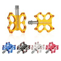 axle seals - High Quality Bicycle Pedals Bike Pedals Sealed Bearings CNC Steel Axle Platform Pedals for BMX MTB Bicycle Colors DHL Y0739