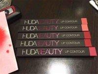 Wholesale In Stock New HUDA BEAUTY Lip Liner Matte Lip Contour Lip Pencil Cosmetics Huda Beauty Makeup Colors DHL