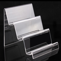 acrylic display design - A86 Three layers clear acrylic bracelets bangles watch wallet display rack jewelry holder with nice design new material
