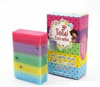 Wholesale DHL Free OMO White Plus Soap Mix Color Plus Five Bleached White Skin Gluta Rainbow Soap