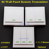 Wholesale Wall Panel Remote Transmitter Button Sticky RF TX Smart Home Room Hall Living Room Bedroom Wirelss Remote315 ev1527