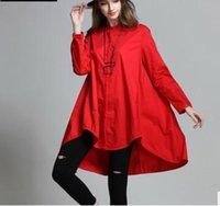 apparel stand - Autumn New long sleeve Irregular Women Clothing Tops Shirt Big Girl Loose T Shirt Dress Women Apparel Casual Loose Shirts X90501