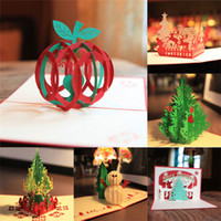 Wholesale 7 styles New D Handmade Card Merry Christmas Day Card Xmas Greeting Cards Party Gifts hot sale