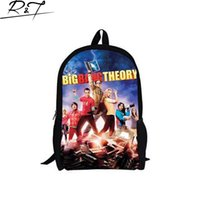 big bang backpack - 2016 American popular comedy scene The Big Bang Theory Design backpack Student school bag for students and teenagers