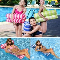 Wholesale Free DHL Summer Inflatable Pool Float Swimming Floating Bed Water Hammock Recreation Beach Mat Mattress Lounge Bed Chair Pool