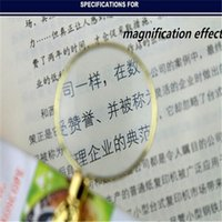 Wholesale Promotion New X Metal Portable Handheld Magnifier Lamp Mini Reading Magnifiying Glass for Old People and Kids EGS