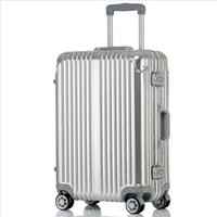 aluminum mold making - 24 quot color metal luggage bag Aluminum Made with a One Piece Mold Design rolling suitcase trolley bags travel case luggage travel