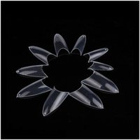 Wholesale New Hot Pointed Transparent False Nails Tips Fullwell Clear Color DIY Nail Art Tips C0146 Factory Direct