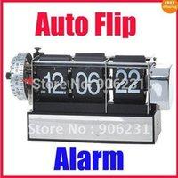 auto paging - Retro Digital Auto Flip Page Desk Gear Clock Alarm
