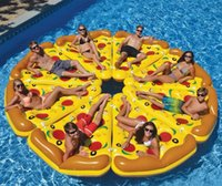 Wholesale Hot selling Summer Adults Kids Pizza Slice Pool Float Huge Floating Raft Swimming ring Pools Water Toy inflatable Pizza Slice Pool Float