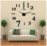 Wholesale 3D Large Mental Home Decor DIY Creative Personality Wall Clock for Living Room