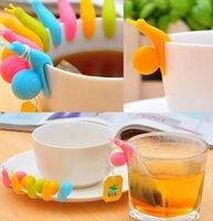 Wholesale Snail Silicone Tea Bag Holder Cute Cup Mug Candy Colors Home DecorationCup Mug Tea Bag Holder KKA308
