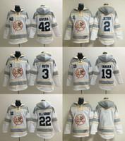 baseball hoodie - MLB Yankees hoodies Baseball jerseys hoody New York JETER RUTH RIVERA TANAKA ELLSBURY cream white