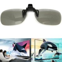 Wholesale Brand new Clip Frame On Circular D Polarized Myopia Eye Glasses Flamping Piece Lens TV Cinema Movie Film Imax
