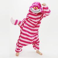 Anime Costumes arrival animal costumes - free pp New Arrival Winter Unisex Animal Onesie Pajamas Cosplay Costume Animal Pajamas Adult Sleepwear Cheshire Cat Onesie