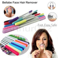 Wholesale Bellabe Face Hair Remover Stick Spring Removes From the Roots Women Facial Ressort Epilator Depilador Lady Beauty Makeup Easy Use