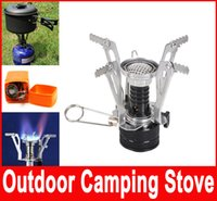 Wholesale Outdoor Picnic Burners Stove Camping Gas Stove Portable Folding Mini Burners Electronic Lgnition New Super Lightweight With Box Hot