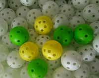 Wholesale MIX Color Golf practice ball D mm holes balls for new comer