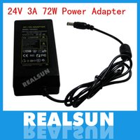 Wholesale 50pcs AC DC Power Adapter V A W Power Supply Adapter with EU US AU UK plug AC Cable free fedex