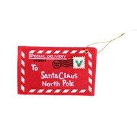 Wholesale christmas Santa Claus Non Woven Fabrics Envelope Shaped Christmas Tree Pendants Christmas Decorations Ornaments cmx8 cm