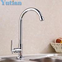 Wholesale Polished Chromed Kitchen Sink tap Bathroom Basin Sink Mixer Tap Swivel Faucet torneira YT