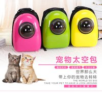 Wholesale puppy dog cat Space Capsule Shaped Breathable Backpack pet Cat Carrier backpack pet dog Outdoor Travel portable Package cat bags