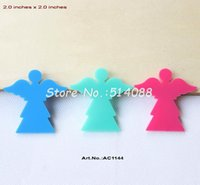 aqua fairy - colors mm Acrylic Angel Brooches Dark Pink Aqua Turquoise Fairy inches AC1144