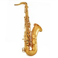Wholesale China Made Professional Tenor Saxophone Brass Instruments NTS Gold Lacquer Brass Plated Tenor Saxofone Bb Sax