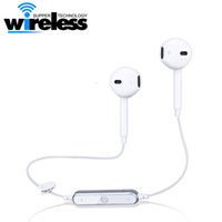 Wholesale S6 Wireless Bluetooth Earphone high Quality CSR4 Stereo Sound Headset Sport Runnning Earphones Hand Free for iphone i7 s7 s6