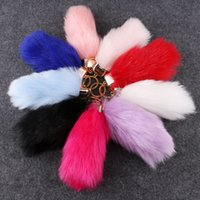 Wholesale Imitation of rabbit hair creative key chain Plush pendant car key chain bag accessories Multicolor and soft