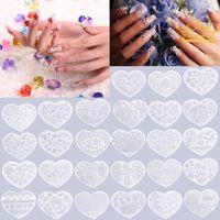 beautiful templates - Heart Shape Nail Art Printing Plate Image Stamping Plates Manicure Template create beautiful nail designs Popular