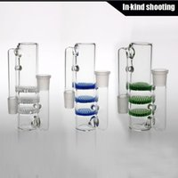Glass ash box - 2016 New ash catcher mm triple Honeycomb three honeycombs glass ashcatcher bubblers ashcatchers color ash catcher ash catchers