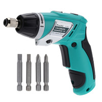 Wholesale Pro sKit PT F V Li ion Rechargeable Cordless Electric Screwdriver with LED light Driver Bits
