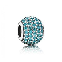 Wholesale 1 Sterling Silver Pavé lights teal cz MCZ