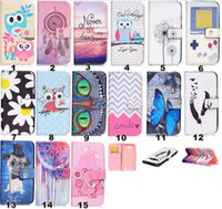 bank card cover - Lovely Owl Dog Flower Shell PU Leather Stand Wallet With Credit Bank Card Slots Cover Case For LG G5 K7 K10 V10 Cellphone Cases