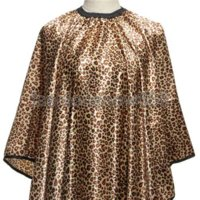 Wholesale 1Pcs Leopard Hair Cape Hairdressing Cut Salon Hairstylist Barber Gown Cloth Sleeve Wrap Styling Tools Caps