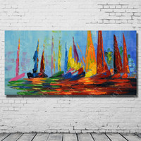 acrylic frame oil painting - Modern Abstract Acrylic Oil Painting Hand Painted Modern Picture Set On Canvas High Quality No Framed