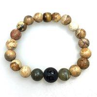 big jasper - Simple Lucky Jewelry Mantra Buddha Onyx Big Beads Labradorite Jasper Bracelet Homme
