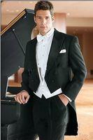 best breast forms - Tailcoat Groom Double Breasted Peak Lapel Best Man Groomsman Men Wedding Suits Prom Form Bridegroom Jacket Pants Tie Vest