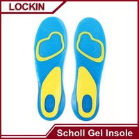Wholesale Scholl Gel Activ Work Sports Insoles for Men Women Soft silicone damping insole VS Amope Scholl Pedi