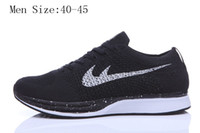 barefoot fashion - 2016 new fashion racer top quality mesh breathable flykniting running shoes for men women popular style barefoot trainer sneakers size