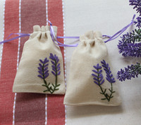 Wholesale Cotton and linen cloth art handmade embroidery sachet lavender sachets empty pocket bag beam jewelry bag