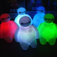 big lamp switch - Colors Changing Baymax Creative Cartoon Baymax LED Night Light Decoration Lamp Big Hero Nightlight Great Gift for Kids