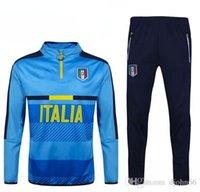 Wholesale Soccer tracksuits Best quality survetement football Italy training suit sweat top soccer jogging pants chandal pant