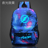 Wholesale 2016 Students The Flash Printing School Bags Middle School Student Luminous Backpack Travel Bag Men Women Canvas Backpack