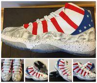 Cheap China Jordans Retro 11 XI USA Moon Landing Customs Men Basketball Shoes 11s Sports Sneakers Cheap China Jordan 11 shoes For Sale